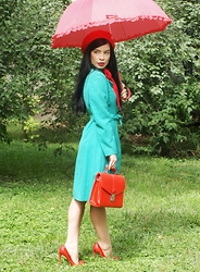Laura Veronica - River Island Coat, New Yorker Bag, Sheinside Shoes - Colors in a rainy day