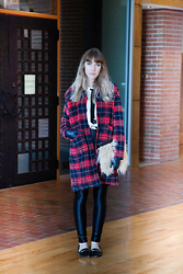 Ashley Treece - Plaid Coat - Mad for plaid