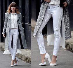 EWELYN D. - Bershka Pants, Aldo Shoes, Zara Blouse - Almost total white look