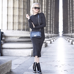 Sara Che - Céline Havana, Chanel Boy Bag, Alexander Wang Lys Booties, Zara Knit Dress - Oh boy!