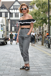Tara S - Asos Cat Eye Sunglasses, Tara Starlet Senorita Crop Top, Freddies Of Pinewood Jeans, Office Shoes Loafers - Sanorita!