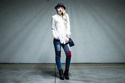 Aleksandra Kupis - Frontrowshop Patchwork Jeans (With Patches) - Too high, can't come down