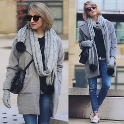 Gema L - Missguided Coat, Mango Jeans, Freyrs Sunglasses, Office Shoes - Hello, 2015