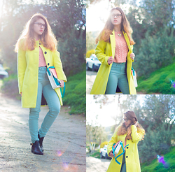 Gina N - M&S Lemon Coat - All About Colours