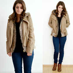 Madeline . -  - Faux Fur & Leather Layering