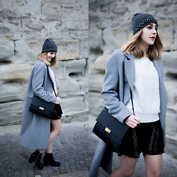 TIPHAINE MARIE - Beanie, Bag, Coat, Boots, Sweater, Dress - Recycle your party dresses.