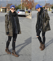 Bethany R. - H&M Camouflage Parka, American Eagle Outfitters Jeggings - In the headlights