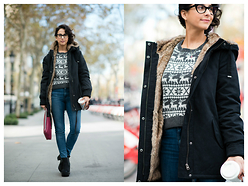 Milagros Plaza - Subdued Coat, Tous Pink Clutch, Deichman Platform Booties - Street style by carola de armas