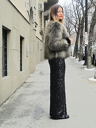 Jovana Radojicic - H&M Faux Fur, H&M Skirt - TO NEW BEGINNINGS