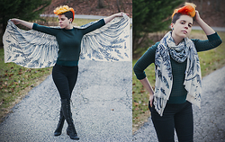 Carolyn W - Wings, New York And Company Forrest, Black, Jeffrey Campbell Tie - Life's Too Short Not To