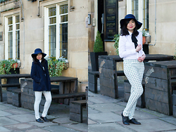 Laura Ngiam - Primark Hat, Missguided Blouse, Shelikes Trousers, Zara Shoes - White-Out