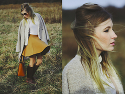 Chloe From The Woods - H&M Brown Skirt, Sheinside Beige Coat - Gone with the wind