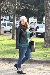 Angelica Giannini - Tezenis Pull, Zara Jeans, O Bag - Look casual maschile