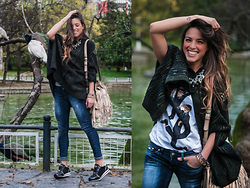 INGRID BETANCOR - Rock And Love Total Look, Liu Jo Sneakers Black - BACK ON TRACK!