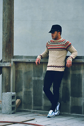 Christopher Estrella - Topman Knitted Sweater - Wooden!!!