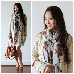 Kimberly Kong - Omg Fashion Cardigan, Charlotte Russe Scarf, She's So Moxie Dress, Ora Delphine Bag - Light Years Away