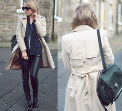 Gema L - Asos Blazer, Zara Trench, London Rebel Boots - Rock chic
