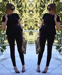 Nina Papaioannou TRENDSURVIVOR - Jimmy Choo Pumps, Céline Sunnies - Double Black