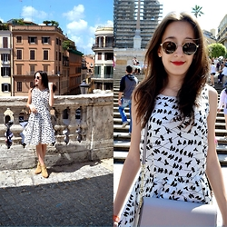 Iva S. - Broadway Dress, H&M Bag, Zara Ankle Boots - Spain stairs