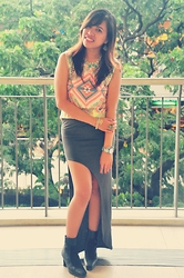 Venus Smileygal -  - Aztec & Side-Slit Skirt