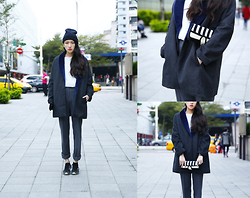 Lee Vivien - Iohll Coat, Jumpfrompaper Clutch, Nike Shoes, Iohll Pants - 2015 First Post