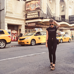 Natalie K - Charlotte Rouge T Shirt, Vans Sneakrs, Zerouv Sunglasses, River Island Jeans - New York /// charlotte rouge