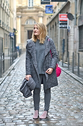 Paris Grenoble - Vero Moda Coar, Maje Puller, Bizzbee Skinny, Eram Boots, Alexander Wang Bag - Lot Of Grey