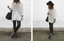 Chariza Miranda - Vintage, Topshop Leather, New Balance 420, H&M Hat - Effortless they say