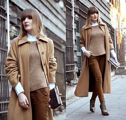 EWELYN D. - Marks & Spencer Coat, Bershka Pants, Asos Shoes - Total camel look with maxi coat