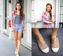 Alyssa Y - Nine West Red, H&M Gray, Forever 21 Denim, Bensimon Brown - Patterns & Paisley