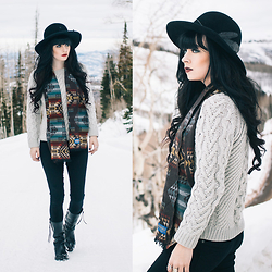 Rachel-Marie Iwanyszyn - Coach Sweater, Pants, Pendleton Scarf, Coach Boots - COACH IN THE MOUNTAINS.