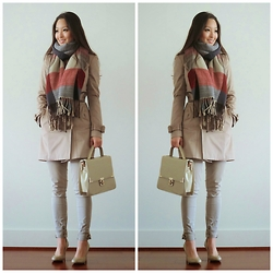 Kimberly Kong - Burberry Trench, Scarves Dot Net Scarf, Handbag Heaven Bag, Paige Denim Skinnies, Kate Spade Shoes - Obsession