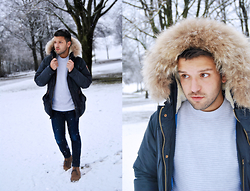 Marc Galobardes - Scotch And Soda Coat, Topman Sweater, H&M Boots - FROZEN #MUNICH