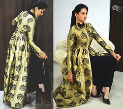 Ms Coco Queen - Nikhil Thampi Cape - Indian motifs