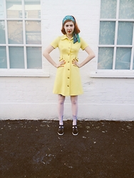 Pip Jolley - Vintage Dress, Juju Jellie Shoes, Laurel And Hector Headband - Thirteen