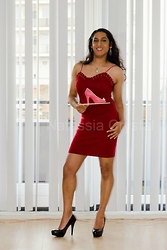 Natassia -  - Red dress & pink chocolate