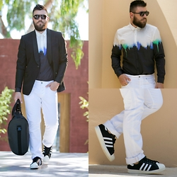 Gabriel - Hugo Boss Blazer, Diesel Pants, Adidas Shoes - BLVCK & WHITE