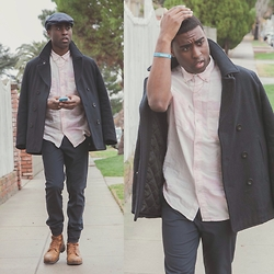 Willie Sparks - American Eagle Outfitters Peacoat, Urban Outfitters Shirt, H&M Hat, Zara Trousers, Diesel Boots - Style