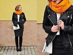 Natalie Savchenko - Zara Leather Jacket, Choies Bag, Zara Boots - Color Block