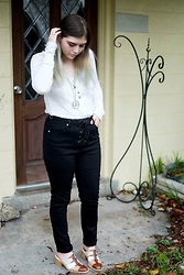 Skye V - Free People White Blouse, Gypsy Warrior Lace Up Jeans, Jeffrey Campbell Langley Mule - All Tied Up