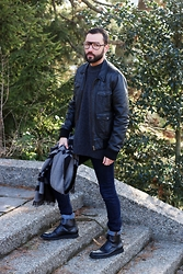 David Fernandez - Cutler And Gross Glasses, H&M Pullover, H&M Jacket, H&M Scarf, H&M Jeans, Zara Boots - Sunny day