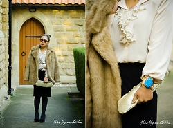 Ojie Papalli - Ojiepapalli Choker Bracelet, Nine West Shoes, Thrifted, Thrifted Blouse - Fur Coat from the pass