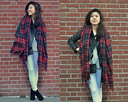 Angela Chen - Madewell, Topshop, Chanel, Piperlime, J.Crew - A Pop of Plaid