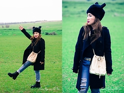 Ojie Papalli - Mango Coat, Boohoo Hat, Ojie Papalli Pants, Wholesale7 Boots - Green Green Grass At Home..