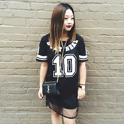 Joanknee C. - Saint Laurent Mini Cassandre Crossbody, Yesstyle Stay Real Dress, Daniel Wellington Watch - Stay Real