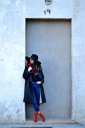 Alexandra G. - H&M Coat - Red boots