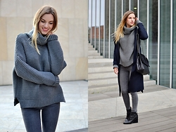 Kasia Z. - Zara Jumper, Zara Shoes, Zara Pants, Parfois Bag - SHADES OF GREY