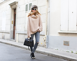 Caroline Louis - Zara Knit - No coat !