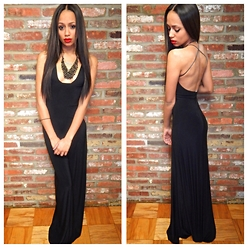 RAY RAY - Missguided Open Back Maxi Dress - Peace Love & MISSGUIDED //
