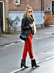 Jint B. - Zara Striped Pants, Tommy Hilfiger Crossbody Bag - On fire